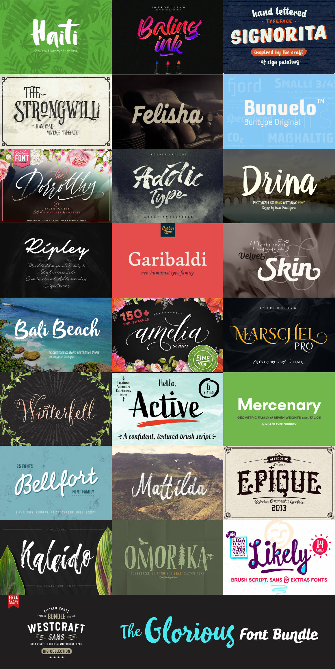Download Free Fonts & Recommended Bundle | 05.16.2017 - IanMikraz ...